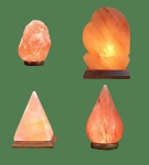 Himalayan Salt Lamps 1 Micro + 1 Heart + 1 Pyramid + 1 Tear Drop